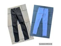 Girls jeans - 2 pairs Age 11-12 yrs approx (Like new)