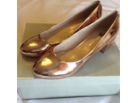Gold Shoes Size 7 River Island