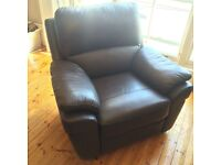 2 x Luxury leather reclining arm chairs for £129 each