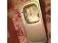 SINK 2 hole stainless steel new £5.00 ono