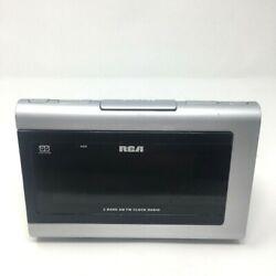 RCA Digital 2-Band AM/FM Dual Wake Alarm Clock Radio Model RP-5420C READ