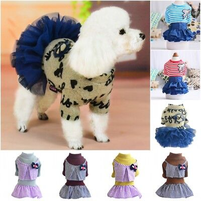 Small Puppy Costumes (Small Dog Skirt Clothes Princess Tutu Dress Pet Puppy Warm Coat Apparel)