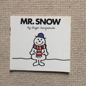 Mr Snow Mr Men Book