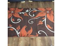 Large rug brown & terracotta