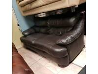 3 seater sofa in brown leather Hyde