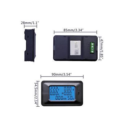 20100a Ac Lcd Digital Panel Power Watt Meter Monitor Voltage Kwh Voltmeter Amme