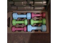 York Fitness 10Kg Vinyl covered fitbell set