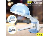 2 IN 1 PERSONAL FACIAL TABLE TOP FACE & HAIR HOT PORTABLE SALON OZONE STEAMER O3