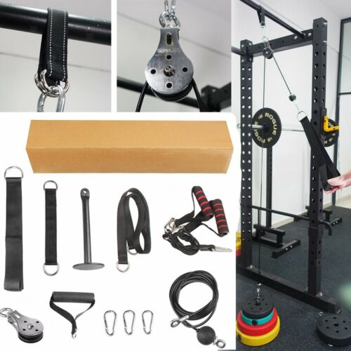 DIY Fitness Pulley Cable Gym Workout Equipment Machine Attac
