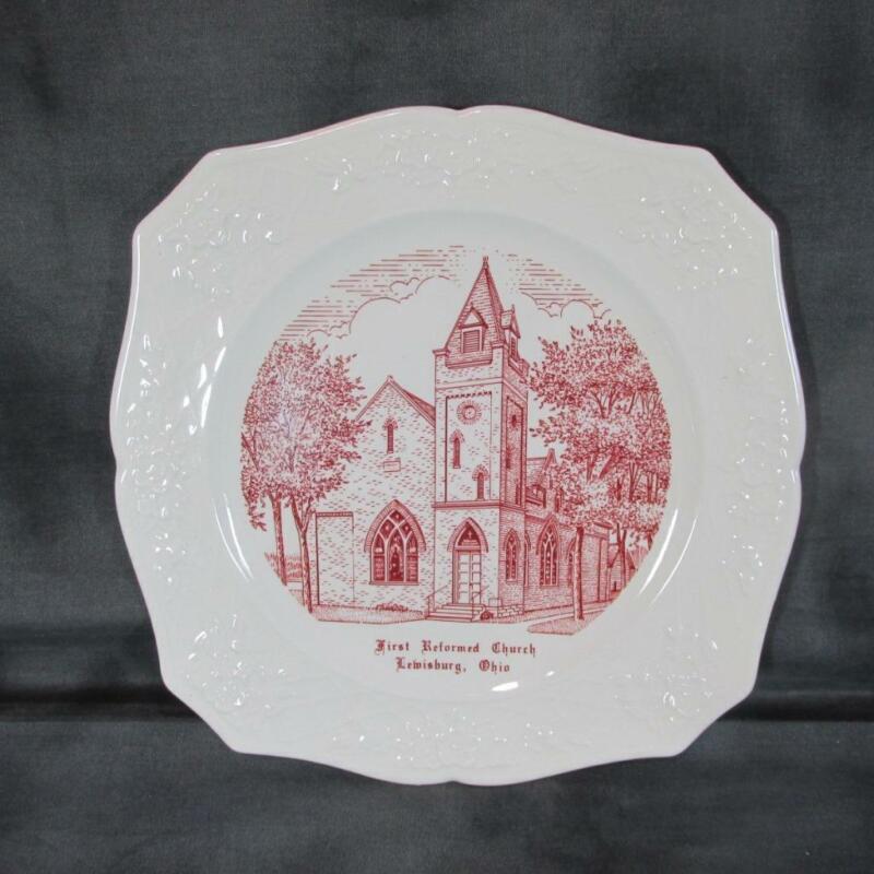 Vintage 1956 Lewisburg Ohio First Reformed Church Souvenir Plate