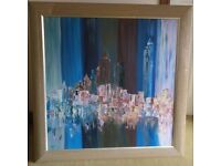 Original Oil on Canvas Cityscape Contemporary Artwork - Picture/Painting