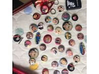 Rare Collection of MADONNA Vintage Pin Badges &2 Retro Mirrors.