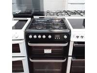 #7693 60cm Hotpoint Double Oven Gas Cooker ( 6 Month Warranty )