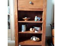 Wooden shelf/drawer unit