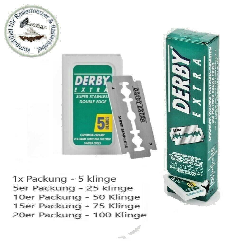 Derby Doppelte Klinge Ideal Rasierklingen für Rasiermesser Rasierhobel razor