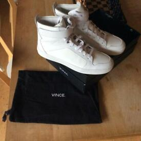 Vince high top trainers sneakers white size 9 for sale!