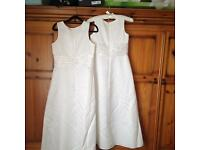 Ivory bridesmaid dresses age 13 and 15