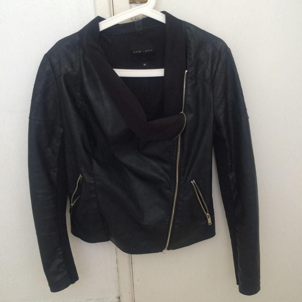 Leather jacket new look - Black A La Leather Jacket New Look Size 10