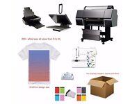 """T-shirt business starter pack - 24"""" printer - 40x60cm Heatpress - 100+ blank tees!!"""