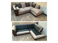 Brown and beige corner sofa*can deliver