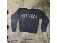 Trapstar dark grey jumper size small