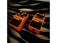 Boss DS-1 with Switchable LED Clipping Mod Distortion Guitar FX pedal