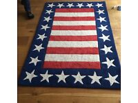 Wool Stars and Stripes Rug from ASPACE