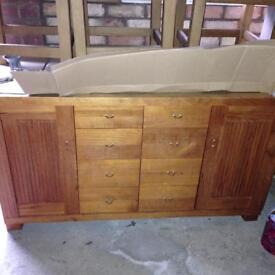 Bespoke solid wood sideboard, £900 new