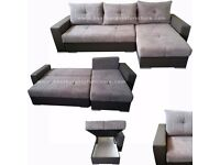CORNER SOFA BED L SHAPE SOFA LEFT OR Right SLEEP FUNCTION,BED CONTAINER IN 3 COLORS