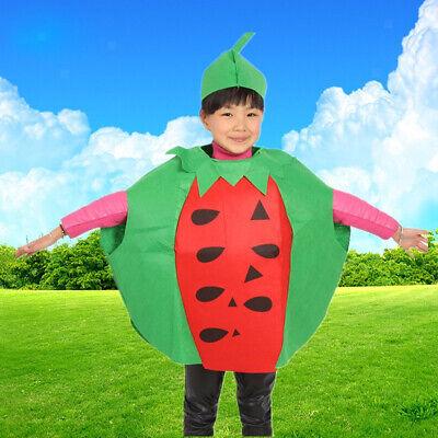 Reizende Kinder Kinder Wassermelone Kostüm Halloween Party Frucht Outfit