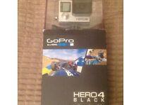 GoPro Hero 4 Black Edition as new