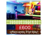Asian wedding mehendi stages / Mehndi stages / chair covers / floor mats best prices !