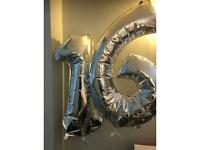 Free 16th birthday balloons and happy birthday banner