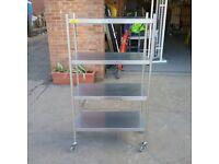 Bartlett B-line 4 tier stainless steel shelves