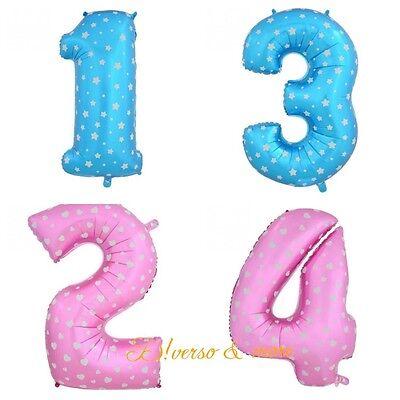 Folienballon / Luftballon Zahl 45cm rosa / blau Nummer  1 2 3 4 5 6 7 8 9 helium (Rosa Ballon 6)