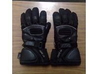 Crane Motorbike Gloves Large L XL Textile Leather Thinsulate Winter Warm Motorcycle Gauntlet