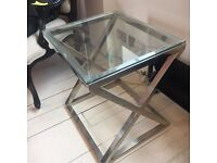 GLASS EICHHOLTZ SIDE TABLE - MUST GO - MAKE AN OFFER