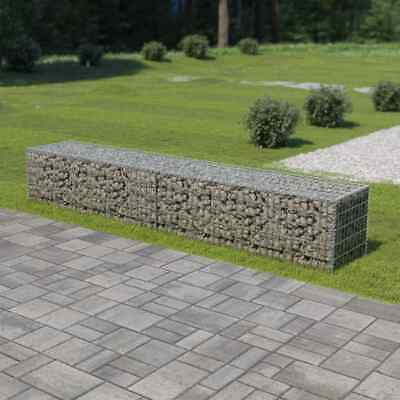 vidaXL Gabion Wall with Covers Galvanised Steel 300x50x50cm Stone Basket Cage