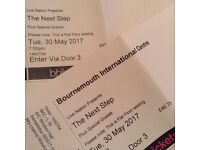 X2 tickets for The Next Step at the BIC on Tuesday 30th May