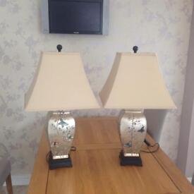 2 X Gold oriental lamps