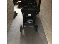 Kiddicare Iona Travel System buggy with car seat and separate next stage buggy
