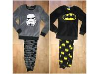 Men's XS Batman and Storm Trooper fleece pyjamas