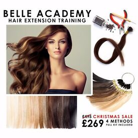 HAIR EXTENSION COURSES. ALL INCLUSIVE OF TRAINING, CERTIFICATION & KIT - CHRISTMAS SALE NOW ON.