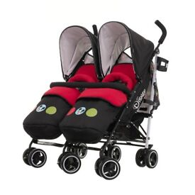 Obaby twin double disney stroller