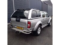 Nissan Navara D22 snug top, carry boy, silver KY0
