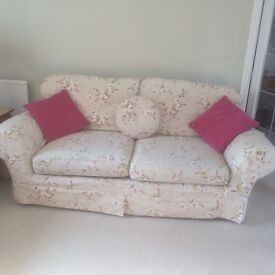 3 Seater, 2 Seater sofa, Armchair and footstool