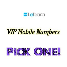 Easy To Remember Pay As You Go Sim Card With A VIP Mobile - Gold - Uk - Special Numbers On Lebara