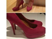 Size 8 Pink High Heels