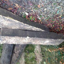 """2x Stone Gate post - 57"""" Tall"""