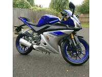 Blue Yamaha YZF-R125 ABS Model (2015) *IMMACULATE* PRICE REDUCED!!!